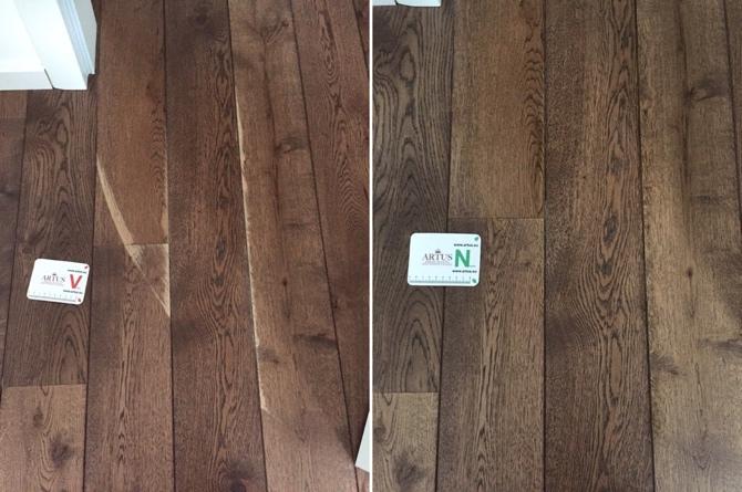 Boden Holz Schleifspuren