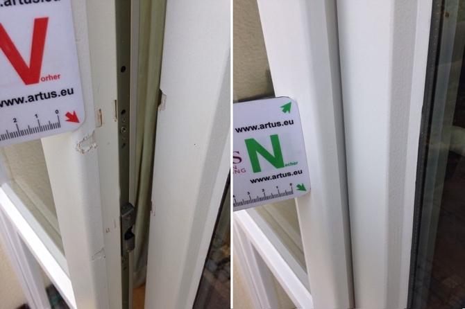 Einbruchschaden Absplitterungen Holz Fenster