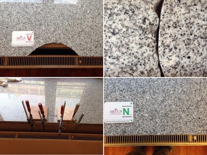 Fensterbank Granit Ausbruch