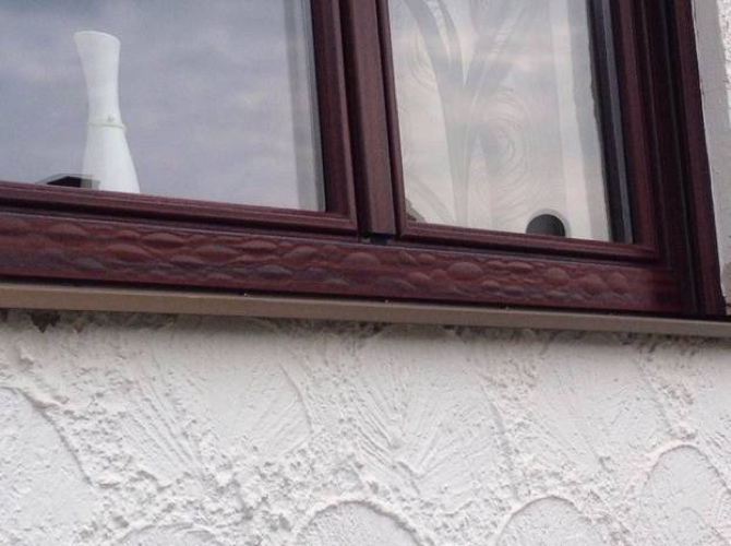 Fenster Rahmen Folie Renolit Blasenbildung
