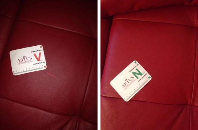 Leder Sitzfläche Kratzer Abschürfung