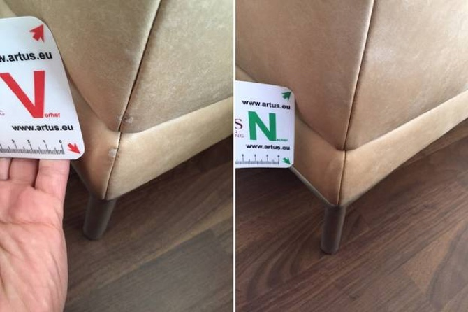Leder Abschürfung Kante Sofa