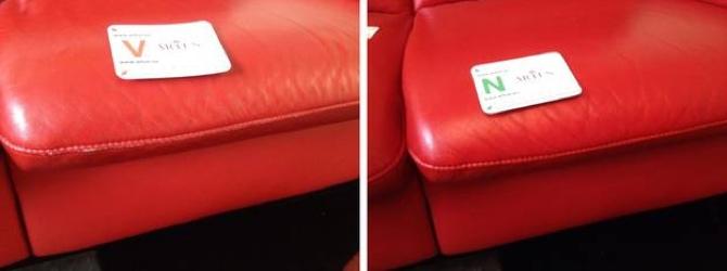 Leder Abnutzung Sitzbereich