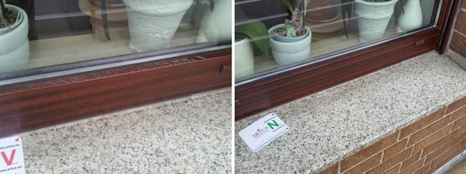 Folienverschub bei einem Fensterrahmen